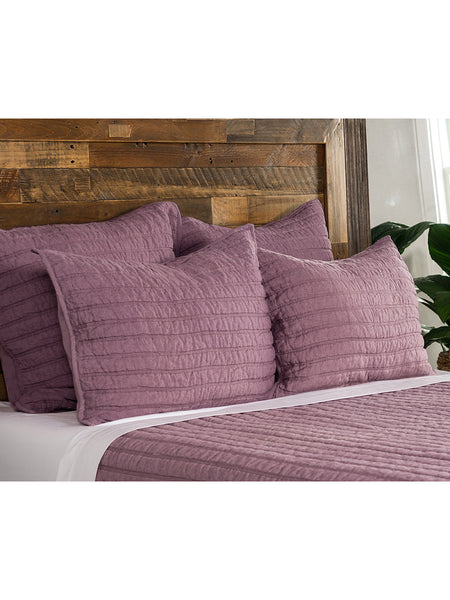 Heirloom Linen Quilt Collection - Orchid - Queen