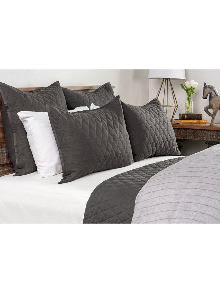 Lana Quilt Collection - Charcoal - King