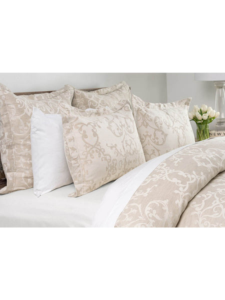 Lido Jacquard Duvet Collection - Natural - Queen
