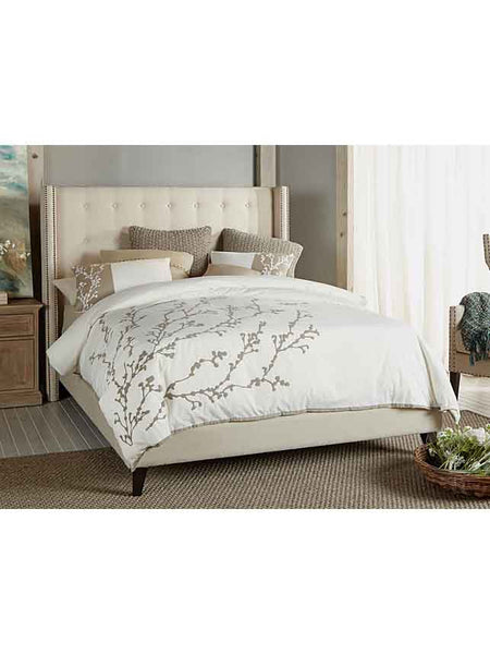 Brandt Bed - Queen - Oatmeal Linen