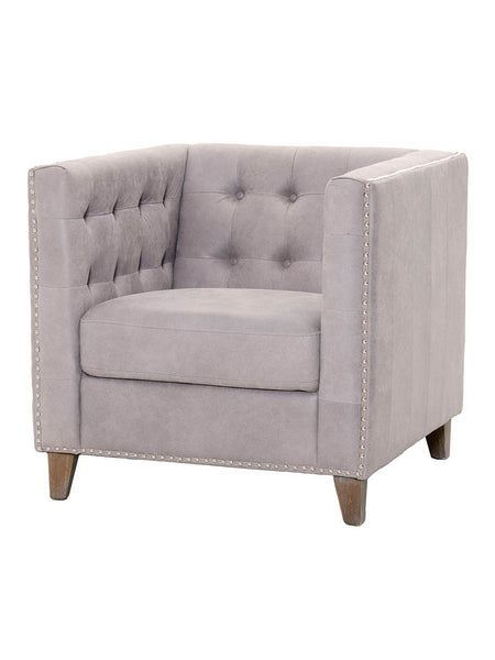 Lance Sofa Chair - Pearl Gray Leather