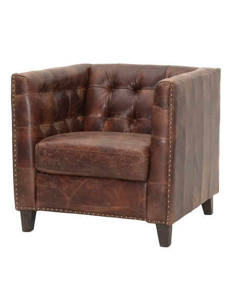 Lance Sofa Chair - Antique Cigar Leather