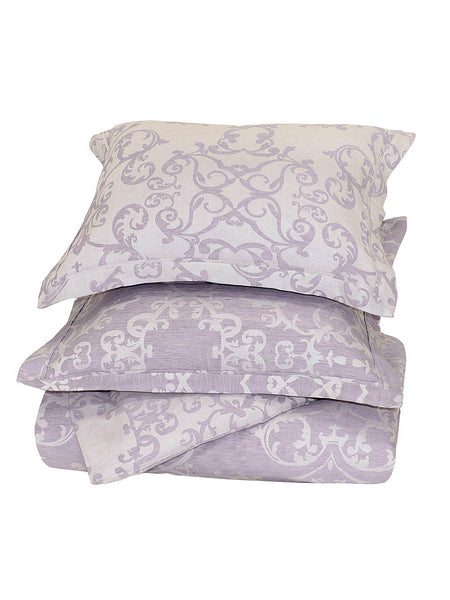 Lido Jacquard Duvet Collection - Lavender - Queen