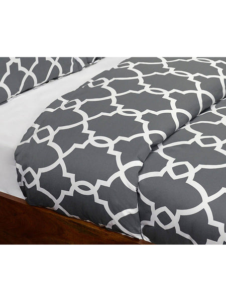 Metro Terrace Duvet Collection - Charcoal - Queen
