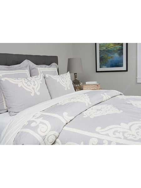 Patrina Duvet Collection - Fog - Queen