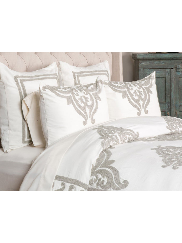 Patrina Duvet Collection - Ivory - Queen