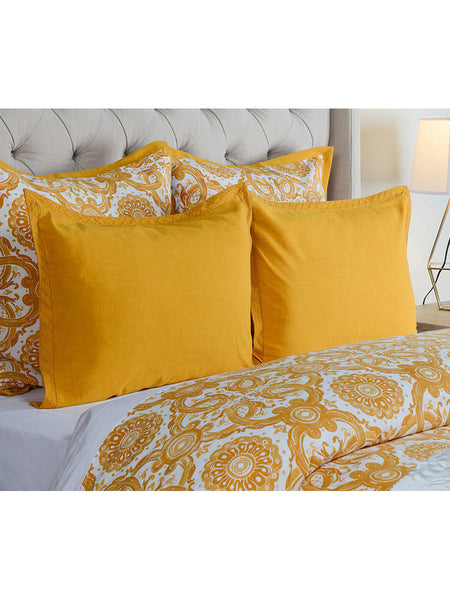 Resort Printed Duvet Collection - Mango - Queen