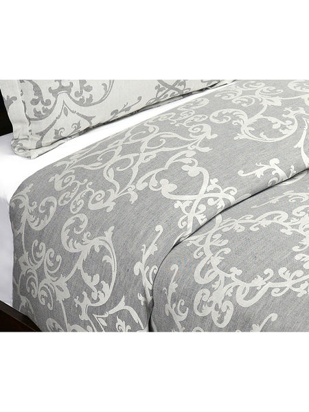 Lido Jacquard Duvet Collection - Charcoal - Queen