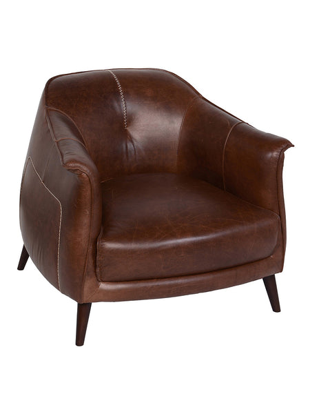 Martin Leather Club Chair - Tan