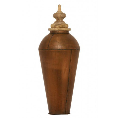 Alladin Copper and Lid Pot Deco - Wood Natural - Large