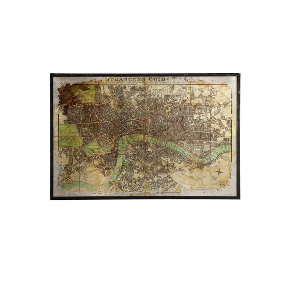 "London Strangers Guide Map 47"" Canvas Art"