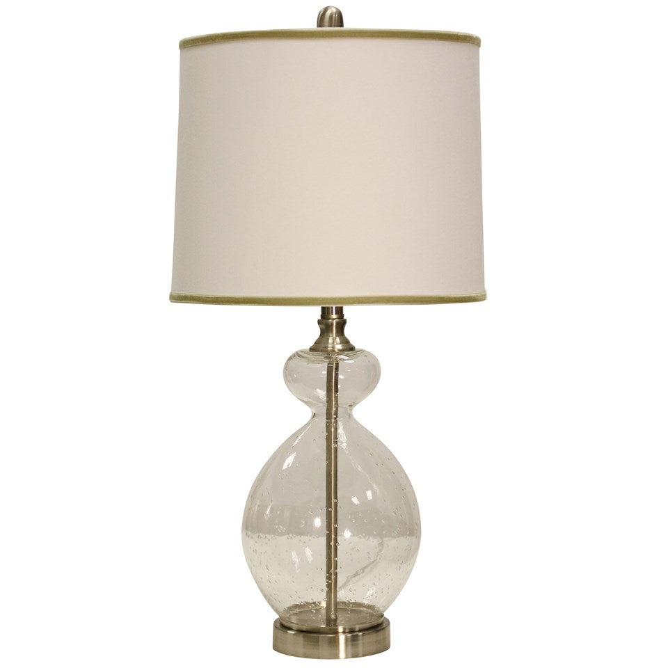 Brianna 28 Clear Seeded Glass Table Lamp Vintage Home Charlotte
