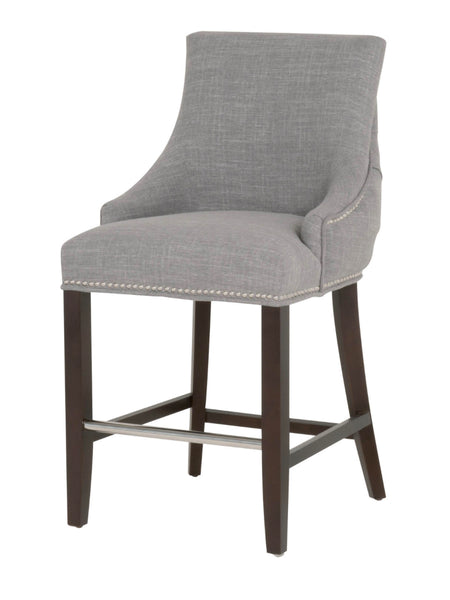 Boulevard Counter Stool - Smoke Fabric