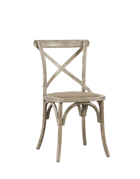 Carol Oak Side Chair - Medium Driftwood