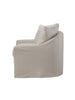Anniston Slip-Covered Swivel Chair - Linen