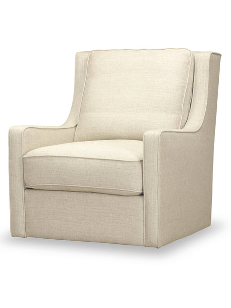 Carver Swivel Chair   Linen