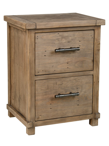 "Luke 24"" 2 Drawer Filing Cabinet - Charcoal Wash"