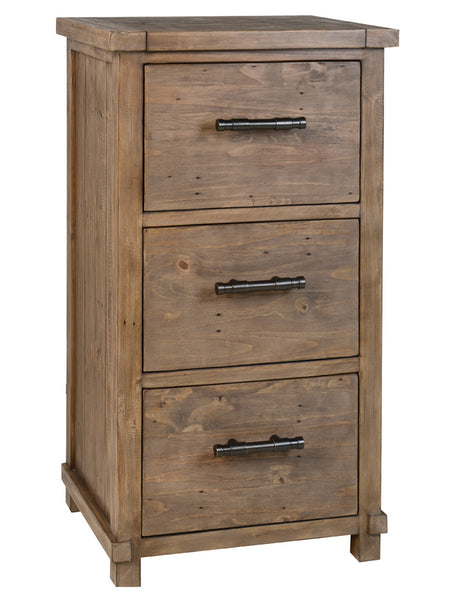 "Luke 24"" 3 Drawer Filing Cabinet - Charcoal Wash"