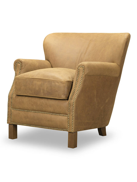 Gerrard Leather Chair - Saddle