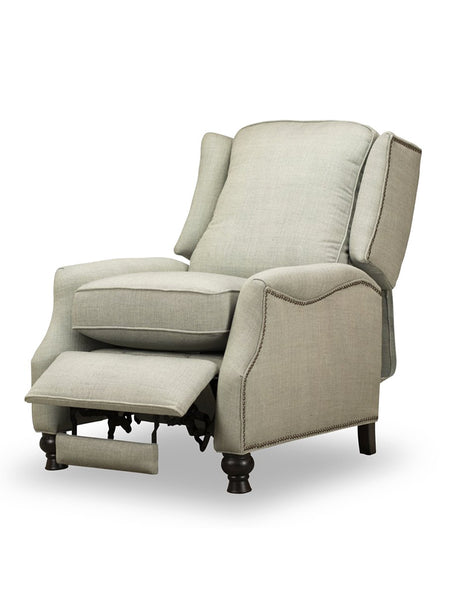 Hampton Pushback Down Recliner - Fog