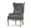 Brittany Tufted Mahogany Wing Chair