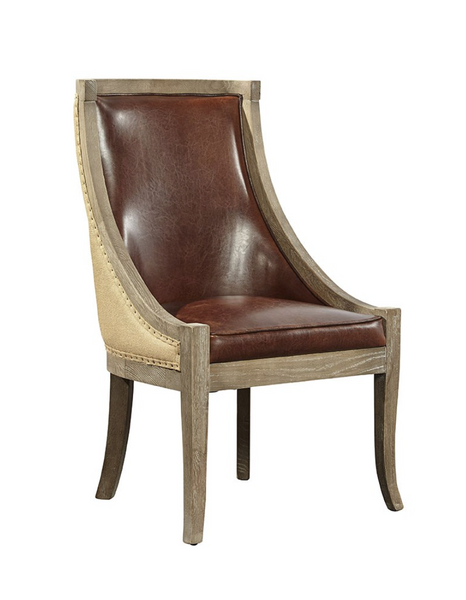 Ballantyne Oak Chair - Brown