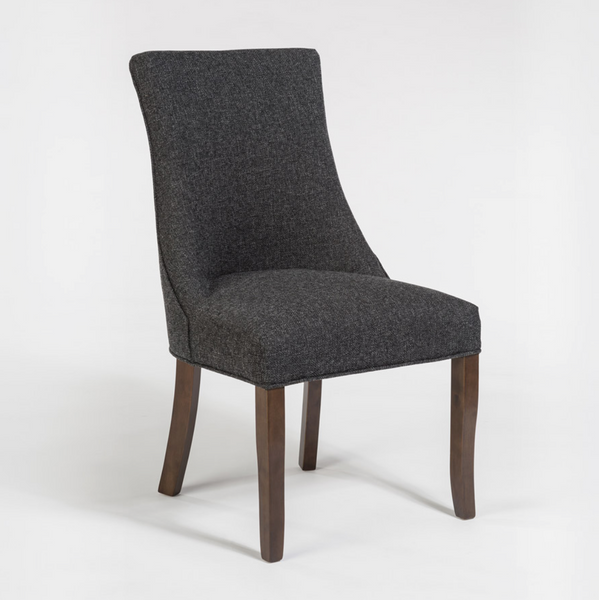 Connery Dining Chair - Charcoal + Chestnut