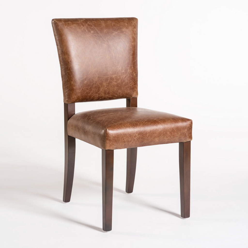 Redmond Leather Dining Chair Distressed Clay Vintage