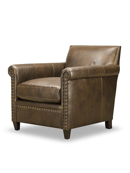 Audrey Chair - Chocolate Leather