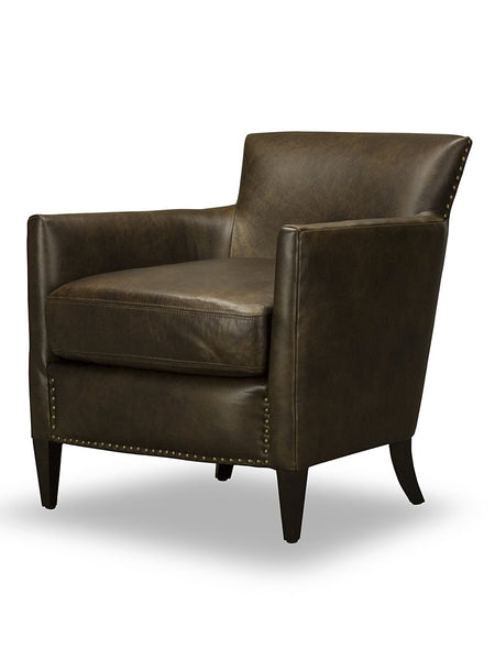 Collins Chair - Chocolate Leather