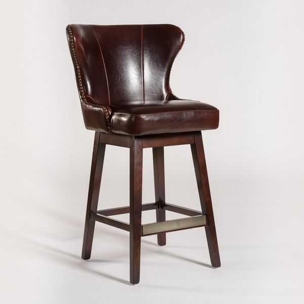 Rockne Swivel Bar Stool - Old Tannery Leather