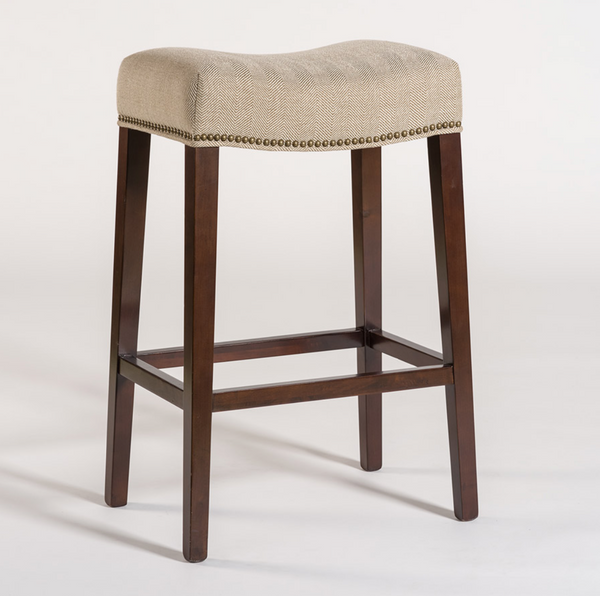 Norman Counter Stool - Khaki Herringbone