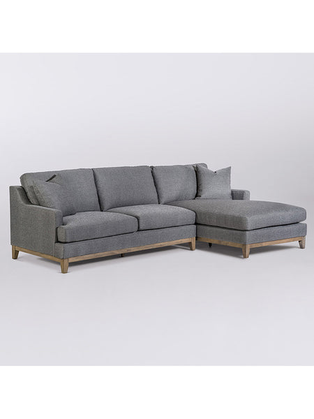 Garth Sectional - Checkered Slate & Driftwood - Right Arm Facing