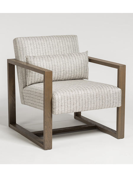 Soho Occasional Chair - Steel Twill & Driftwood