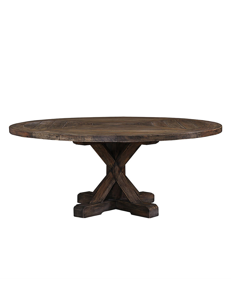 Branham Round Mahogany Trestle Dining Table Cocoa Vintage - 72 trestle dining table