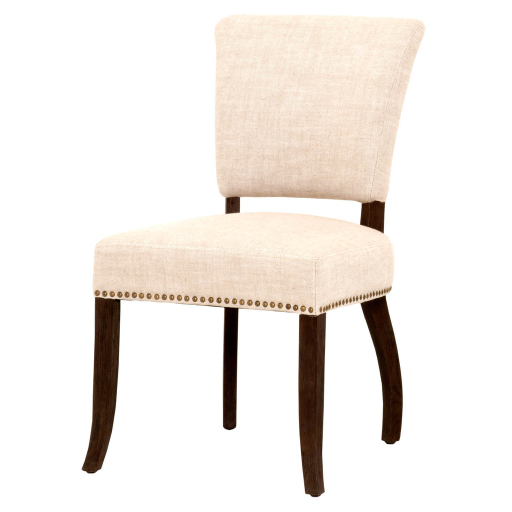 Beau Felix Dining Chair   Bisque French Linen + Java
