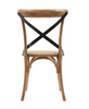 Brady X-Back Chair - Medium Brown