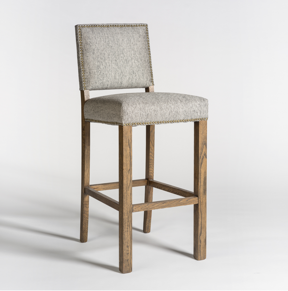 Westchester Barstool - Diamond Pepper + Weathered Oak