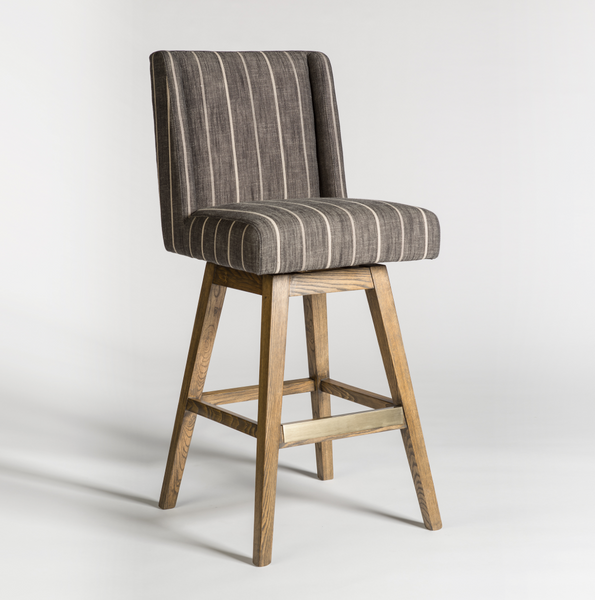 Soho Swivel Barstool - Revere Dusk + Weathered Oak