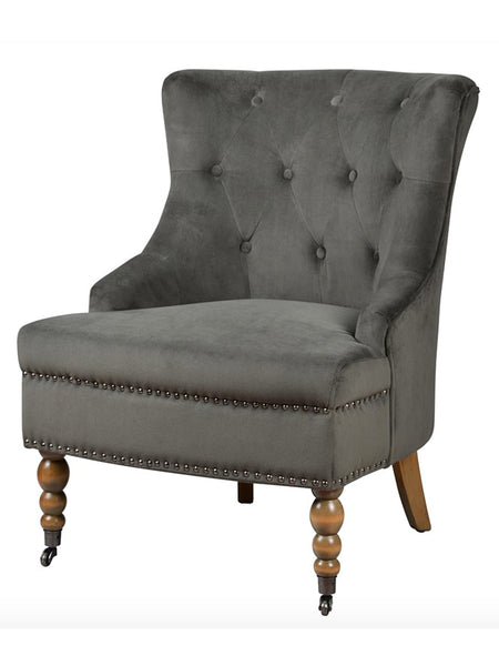 Emerson Tufted Chair - Roma Graphite