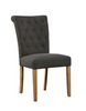 Beaumont Linen & Oak Dining Chair - Gray