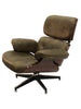 Warner Swivel Chair - Vintage Brown Leather