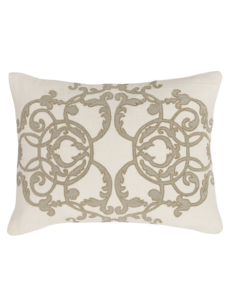 Agera 12x16 Pillow - Ivory/Champagne