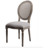 Hartwell Oval Mesh Back Side Chair - Dove Grey Linen