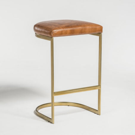 Santa Ana Leather Barstool