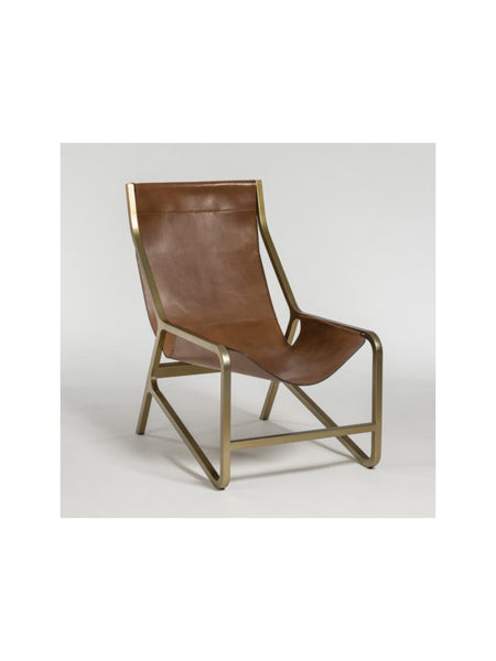 Devon Tanned Umber Leather Chair