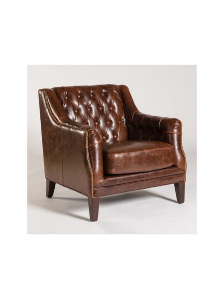 Brighton Occasional Chair - Antique Saddle Leather