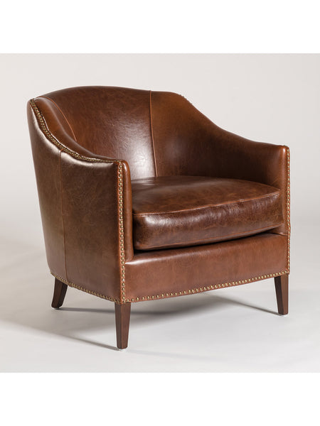 Essex Occasional Chair - Antique Saddle Leather