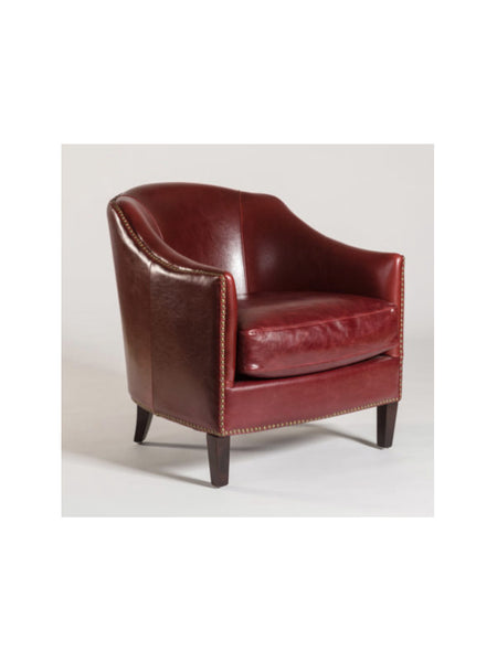 Essex Occasional Chair - Rouge Bordeaux Leather