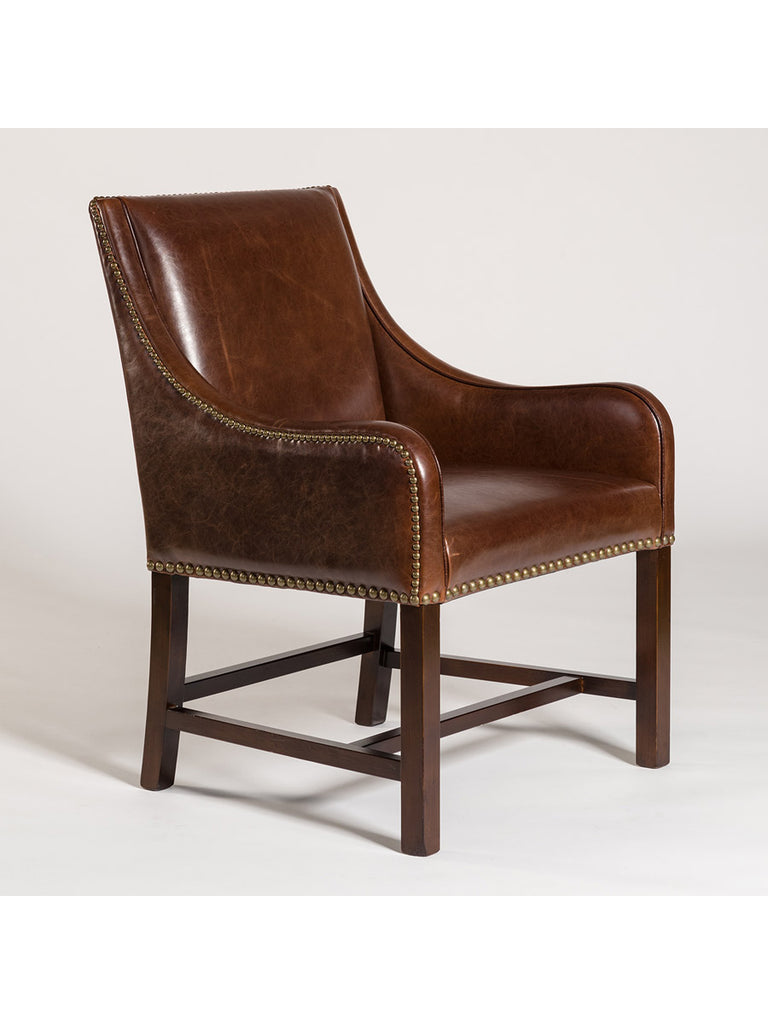 Dorchester Occasional Chair - Antique Saddle Leather